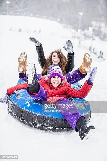 Und Snowtubing bei