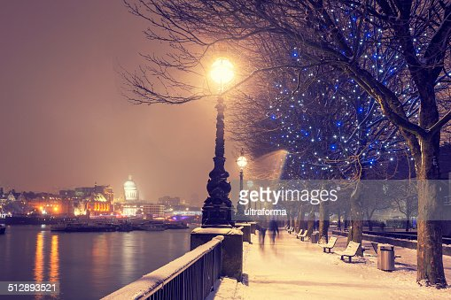 Snowy Christmas in London