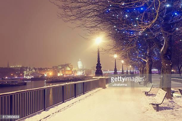 Schnee Weihnachten in London