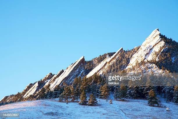 Snowy Flatirons of Boulder Colorado
