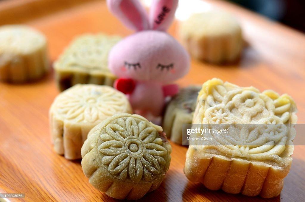 Snowy mooncake : Stock Photo