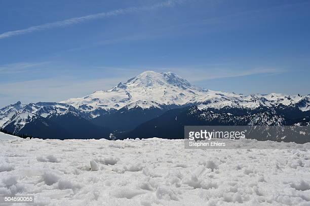 Snowy Mount Rainier