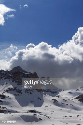 Montanhas NevadasComment em nice day : Foto de stock