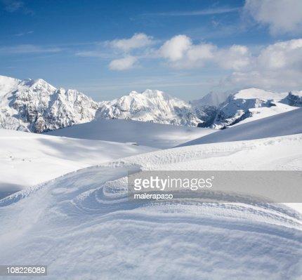 Snowy mountains : Stock Photo