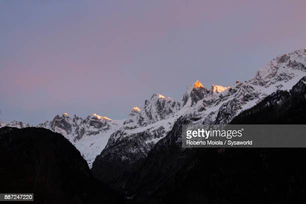 Snowy peaks Badile and Cengalo, Switzerland