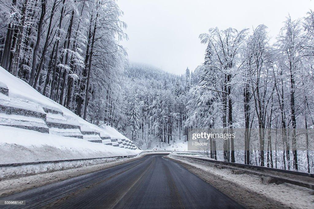 Snowy road : Stock Photo