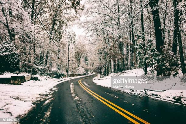 verschneiten Straßen