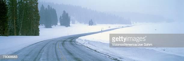 'A Snowy Route 14, Near Cedar Breaks National Park, Utah'