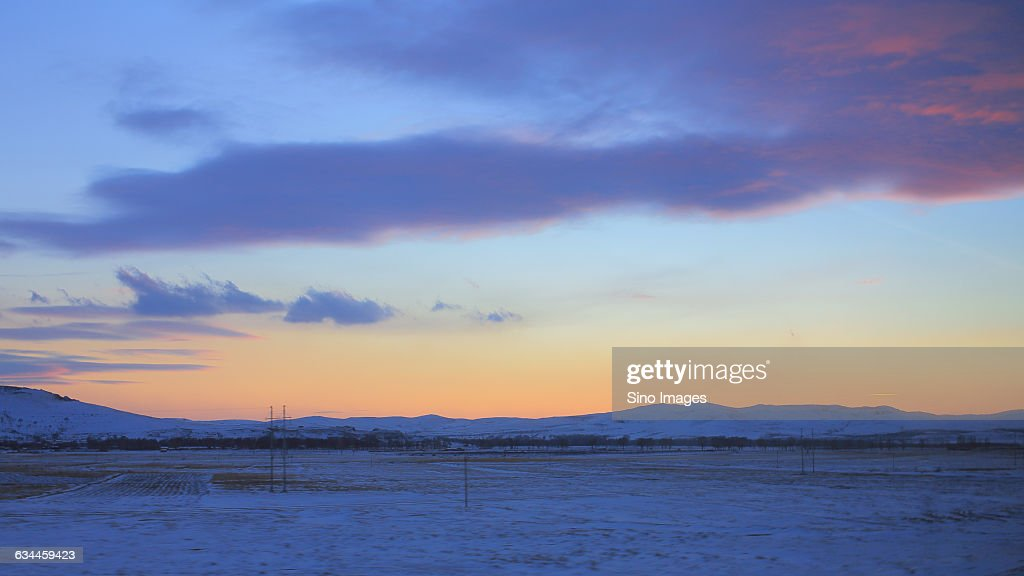 snowy sight of Hohhot,Inner Mongolia
