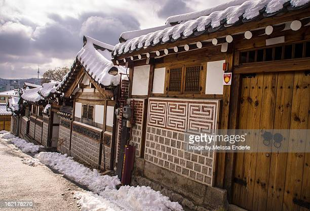Snowy Sloped Roofs of Bukchon
