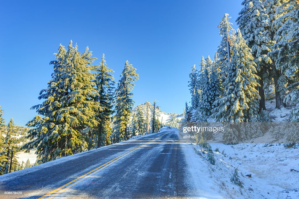 Schnee winter road : Stock-Foto