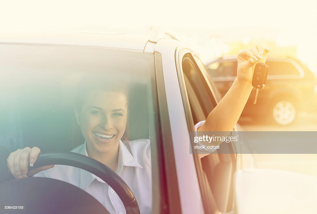 so excited for my new car : Stock Photo