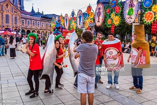 São João festival with teenagers marketing a beer brand