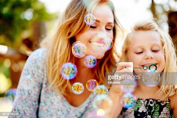 多くの泡。