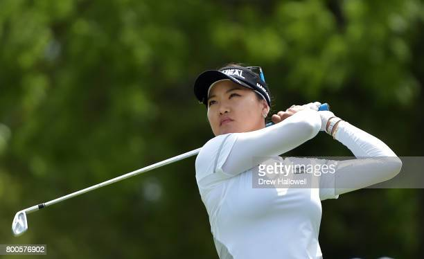 So Yeon Ryu of Korea hits her tee shot on the third hole during the second round of the Walmart NW Arkansas Championship Presented by PG on June 24...