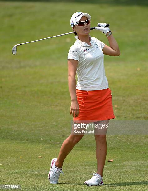 So Yeon Ryu of South Korea during the third round of the HSBC Women's Champions at the Sentosa Golf Club on March 1 2014 in Singapore Singapore