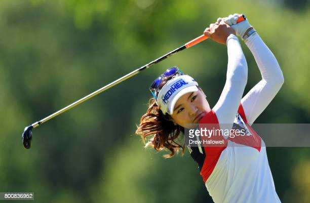 So Yeon Ryu of South Korea hits her tee shot on the 13th hole during the Walmart NW Arkansas Championship Presented by PG on June 25 2017 in Rogers...