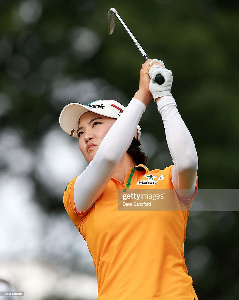 <a gi-track='captionPersonalityLinkClicked' href=/galleries/search?phrase=So+Yeon+Ryu&family=editorial&specificpeople=3965650 ng-click='$event.stopPropagation()'>So Yeon Ryu</a> of South Korea hits her tee shot on the 17th tee during the fourth round of the LPGA Canadian Pacific Women's Open at the London Hunt and Country Club on August 24, 2014 in London, Ontario, Canada.
