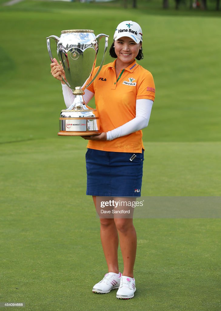 <a gi-track='captionPersonalityLinkClicked' href=/galleries/search?phrase=So+Yeon+Ryu&family=editorial&specificpeople=3965650 ng-click='$event.stopPropagation()'>So Yeon Ryu</a> of South Korea holds the championship trophy after her two stroke victory during the fourth round of the LPGA Canadian Pacific Women's Open at the London Hunt and Country Club on August 24, 2014 in London, Ontario, Canada.