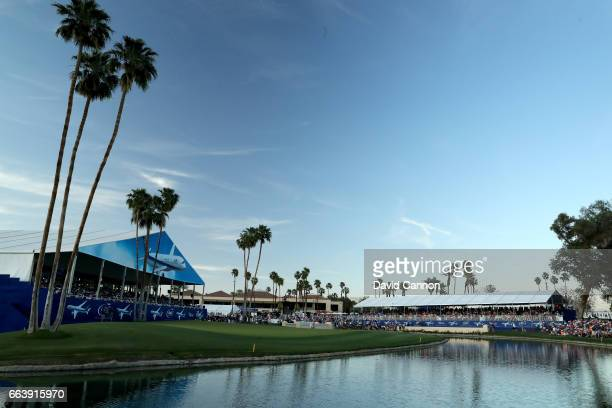 So Yeon Ryu of South Korea in her playoff with Lexi Thompson on the 18th hole after the final round of the 2017 ANA Inspiration held on the Dinah...