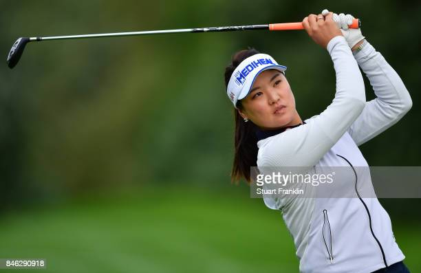 So Yeon Ryu of South Korea plays a shot during the pro am prior to the start of The Evian Championship at Evian Resort Golf Club on September 13 2017...