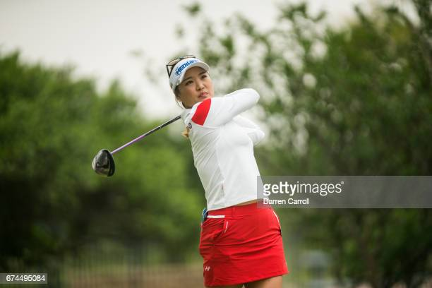So Yeon Ryu of South Korea plays a tee shot at the second hole during the second round of the Volunteers of America North Texas Shootout at Las...