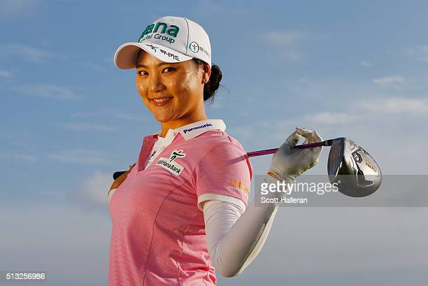 So Yeon Ryu of South Korea poses during the proam prior to the start of the HSBC Women's Champions at Sentosa Golf Club on March 2 2016 in Singapore