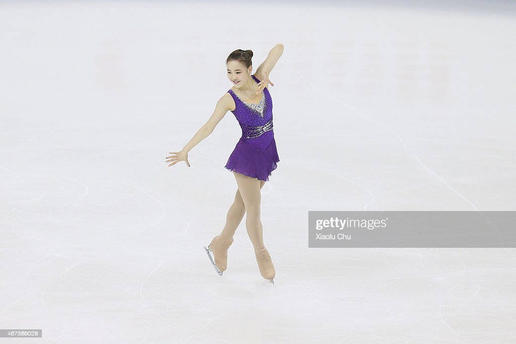 So Youn Park of Korea performs during the Ladies Short Program on day two of the 2015 ISU World Figure Skating Championships at Shanghai Oriental Sports Center on March 26, 2015 in Shanghai, China.