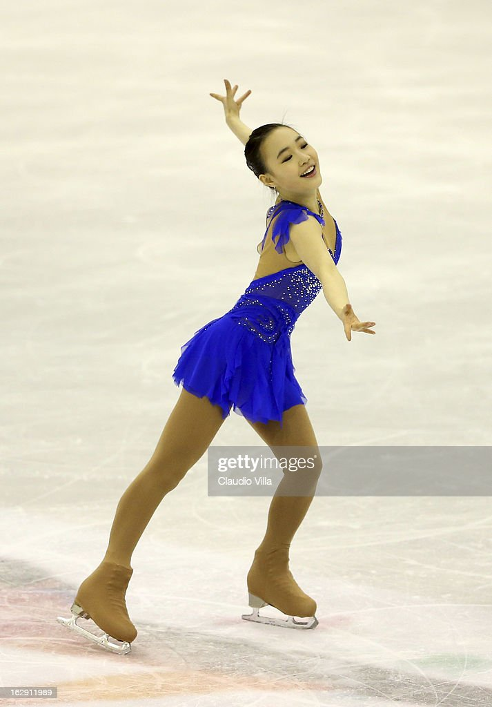 So Youn Park of Korea skates in the Junior Ladies Short Program during day 5 of the ISU World Junior Figure Skating Championships at Agora Arena on March 01, 2013 in Milan, Italy.