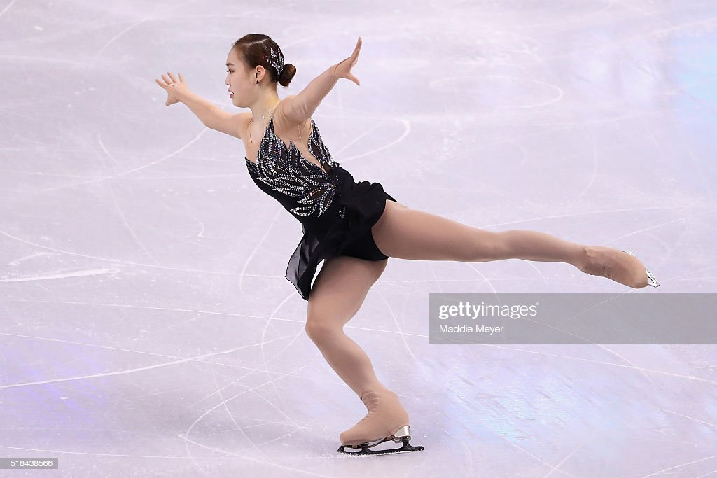 So Youn Park of Korea skates in the Ladies Short Program during Day 4 of the ISU World Figure Skating Championships 2016 at TD Garden on March 31, 2016 in Boston, Massachusetts.