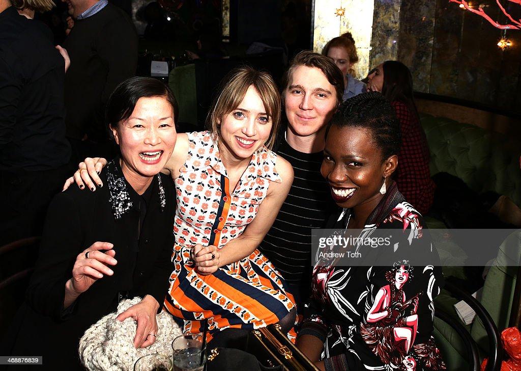 So Young Kim, Zoe Kazan, Paul Dano and Adepero Oduye attend Miu Miu Women's Tales 7th Edition - 'Spark & Light' Screening - Inside at Diamond Horseshoe on February 11, 2014 in New York City.