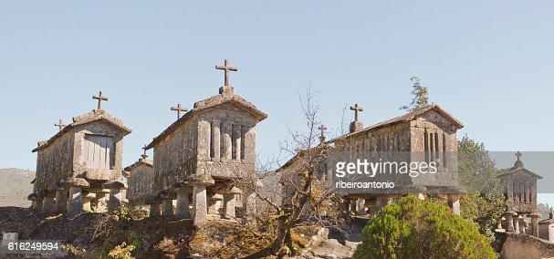 Soajo Communitarian Granaries : Foto de stock