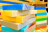 soap bars big blocks colorful