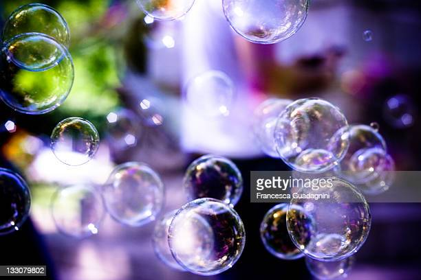 Soap bubbles on street at Rome