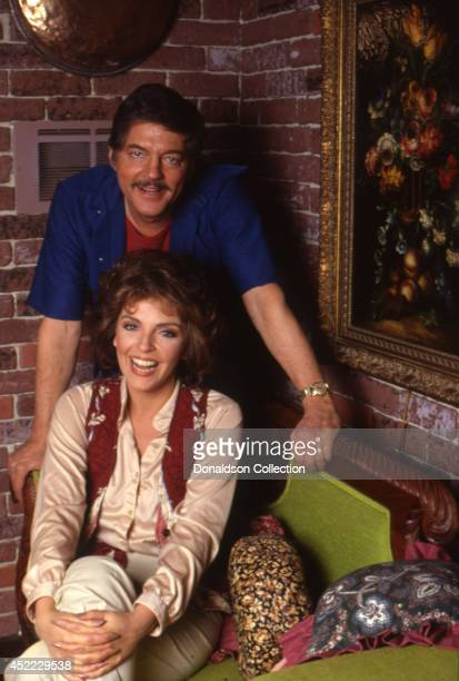 Soap opera supercouple actors Bill Hayes and Susan Seaforth Hayes aka Doug and Julie Williams on 'Days Of Our Lives' pose for a portrait session at...