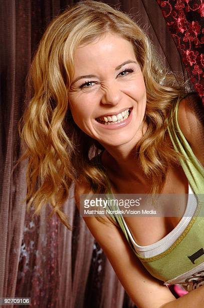 TV soap star of 'Gute Zeiten Schlechte Zeiten' Jessica Ginkel poses during a photo session on January 31 2007 in Berlin Germany