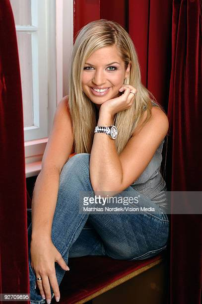 TV soap star of 'Gute Zeiten Schlechte Zeiten' Susan Sideropoulus poses during a photo session on January 31 2007 in Berlin Germany