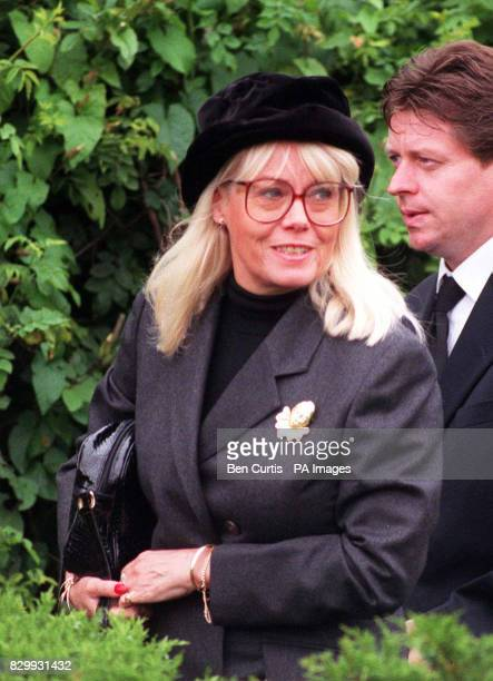 Soap star Wendy Richard arrives at Mortlake Cremetoriam in London today for the funeral of Eastenders creator Julia Smith who died last week See PA...