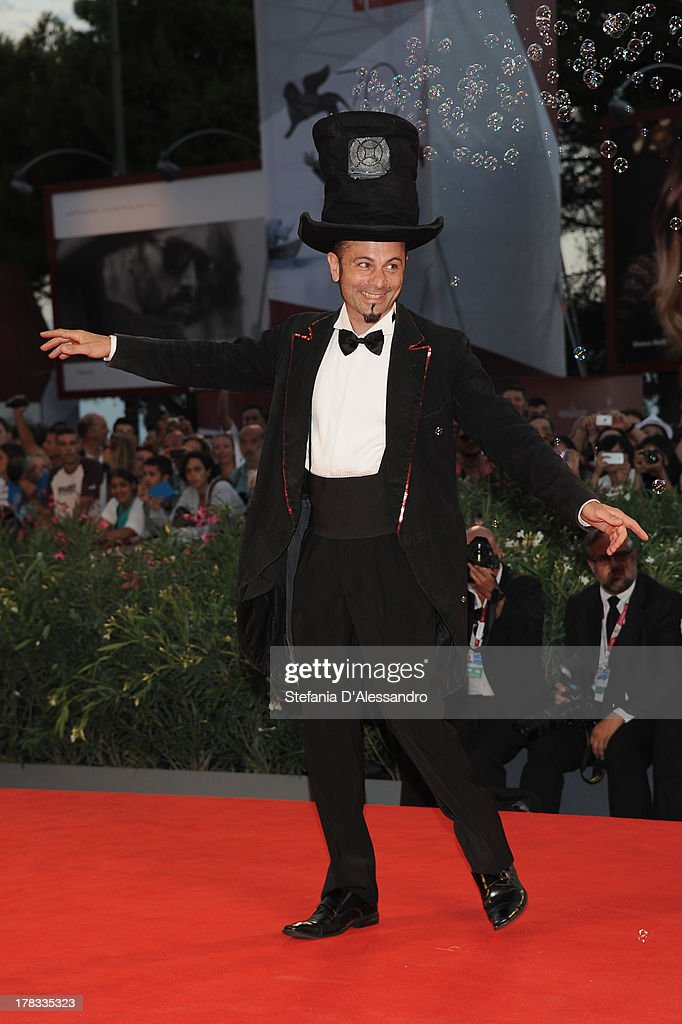 Soap-bubble magician Michele Cafaggi attends 'Tracks' Premiere during the 70th Venice International Film Festival at Sala Grande on August 29, 2013 in Venice, Italy.