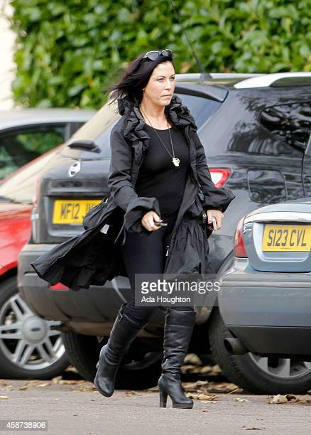 Soapstar Jessie Wallace pictured out in London on November 6 2014 in London England