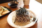 Soba noodle with fried shrimp