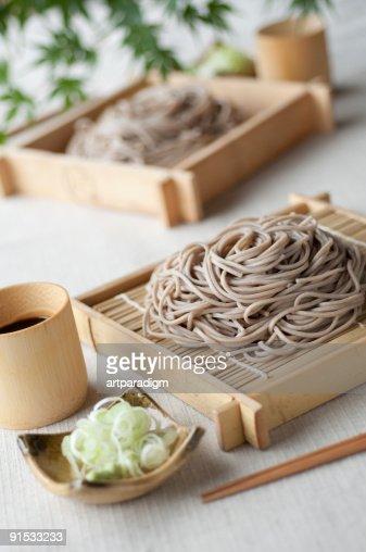Soba Noodles with leeks