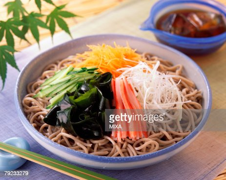 Soba with vegetables : Stock Photo