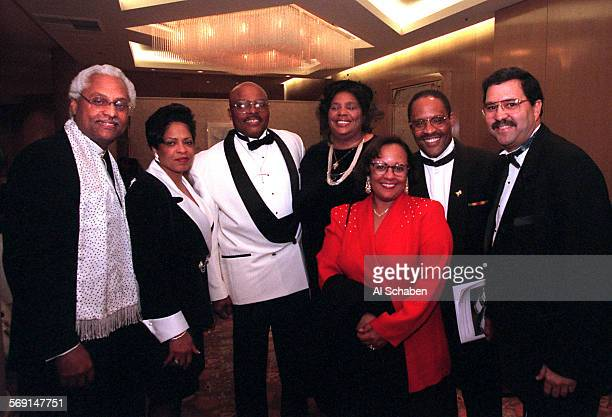 SOBENEFITS29group1221AS––IRVINE–– Pictured from left WebsterJ Guillory honoree Thelma Moore Rev Christopher McCullough Kathryn McCullough honoree...