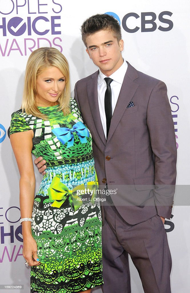 Socalite Paris Hilton and River Viiperi arrive for the 34th Annual People's Choice Awards - Arrivals held at Nokia Theater at L.A. Live on January 9, 2013 in Los Angeles, California.