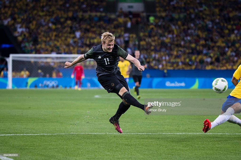 2016 Summer Olympics Germany Julian Brandt in action vs Brazil during Men's Final Gold Medal match at Maracana Stadium Brazil wins in penalty kick...