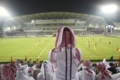AFC Champions League View of Qatari fans watch Lekhwiya SC vs Guangzhou Evergrande of China during Quarterfinals Second Leg at Abdullah bin Khalifa...