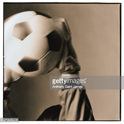 Soccer Ball in Hands : Stock Photo