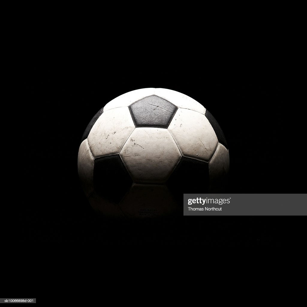 Soccer ball in shadows : Bildbanksbilder
