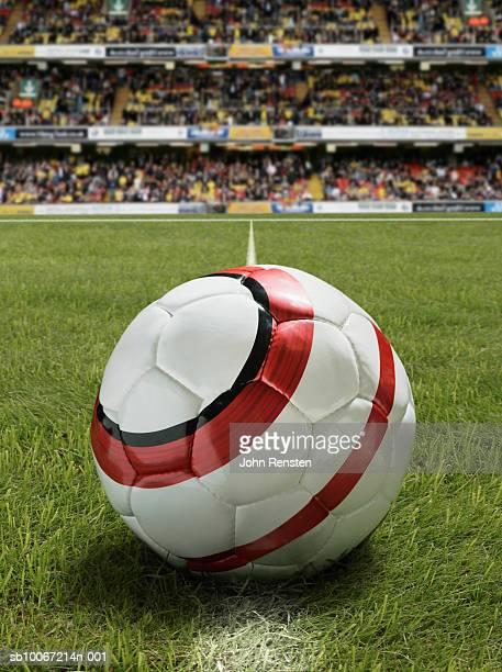 Soccer ball in stadium